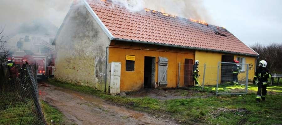 Pożar świetlicy wiejskiej