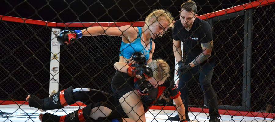 Paulina Wiśniewska była pierwszą reprezentantką MMA Team Ostróda, która cieszyła się z wygranej
