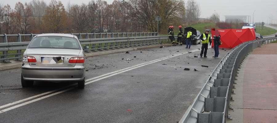 Śmiertelny wypadek na moście na Modrzewinie