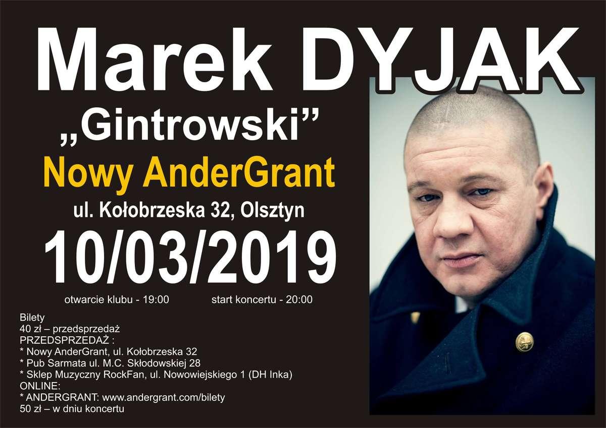 Marek Dyjak Gintrowski w Olsztynie - full image