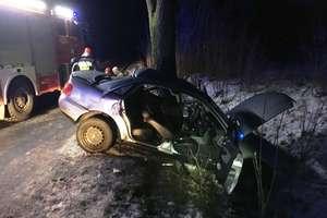 Stracił panowanie nad pojazdem i uderzył w przydrożne drzew