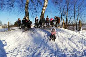 Zimowa lekcja wychowania fizycznego