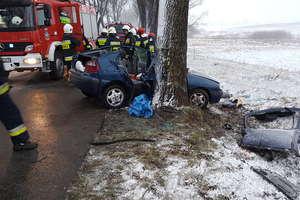 Wypadek w Karbowie. Cztery osoby trafiły do szpitali