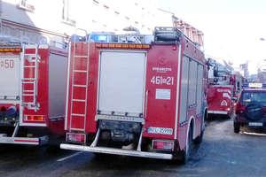 Pożar przy ulicy Gdańskiej. Nikomu nic się nie stało