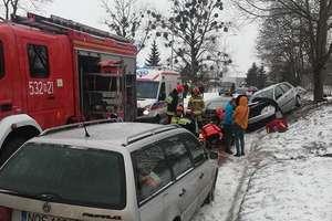 Cztery samochody zderzyły się w Lubajnach, kolejne dwa w Bramce