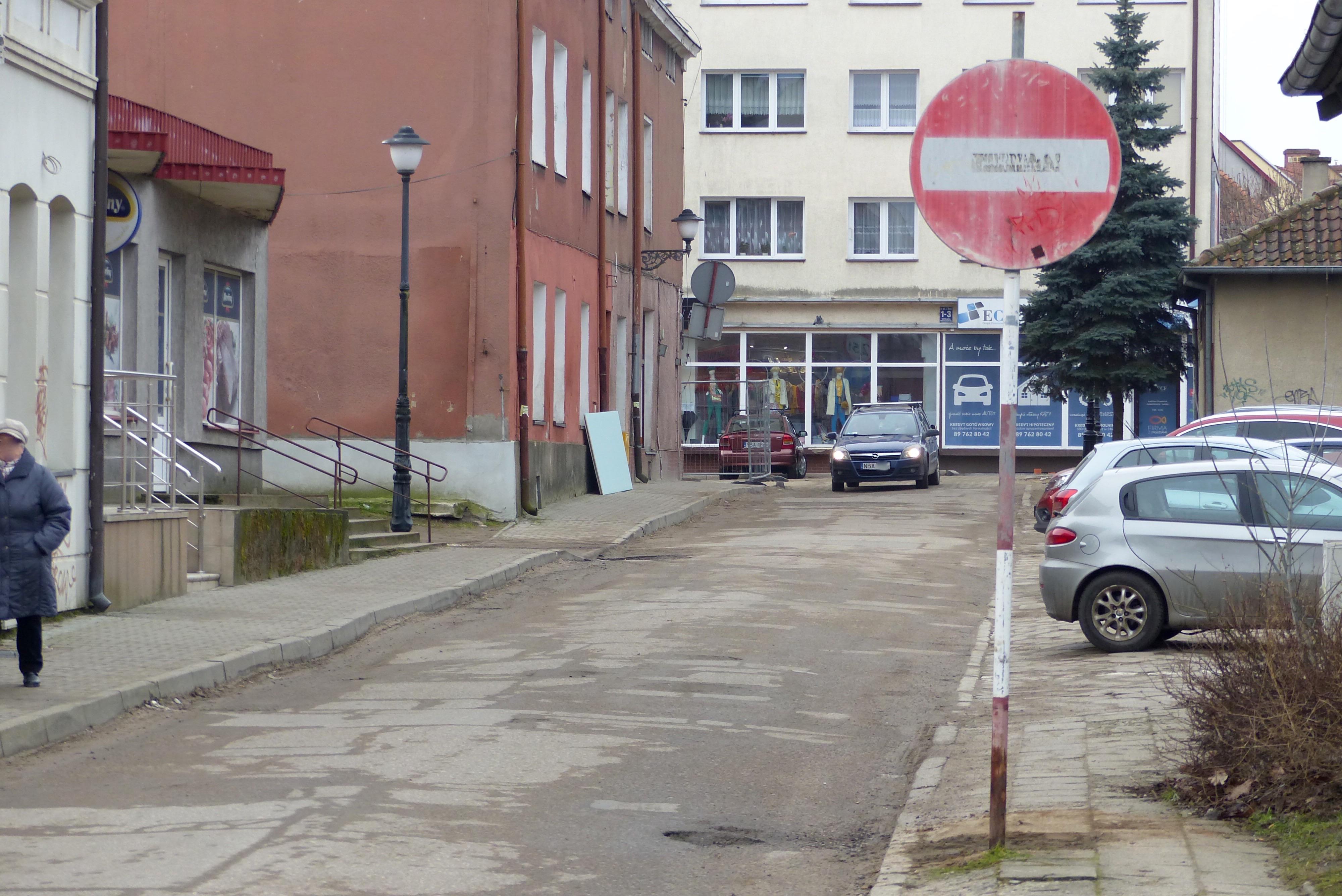 Ulica Cicha w Bartoszycach