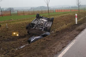 Wypadek na DK 51 koło Bartoszyc. Jedna osoba w szpitalu [ZDJĘCIA]