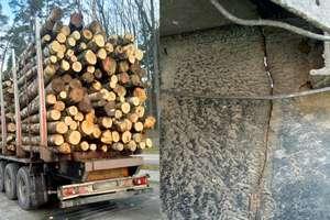 Z całkowicie pękniętą ramą przewoził ponad 20 ton drewna! [ZDJĘCIA]