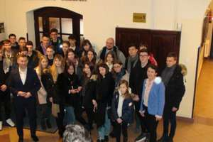 Oleccy licealiści z wizytą u prezydenta