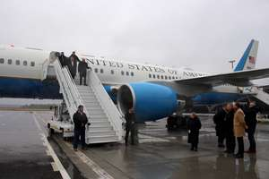 Sekretarz stanu USA Mike Pompeo wylądował w Szymanach