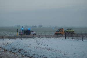 Zderzenie trzech aut na drodze 544 Iłowo - Działdowo