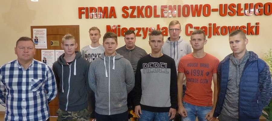 Uczniowie z Zespołu Szkół Zawodowych w Kurzętniku