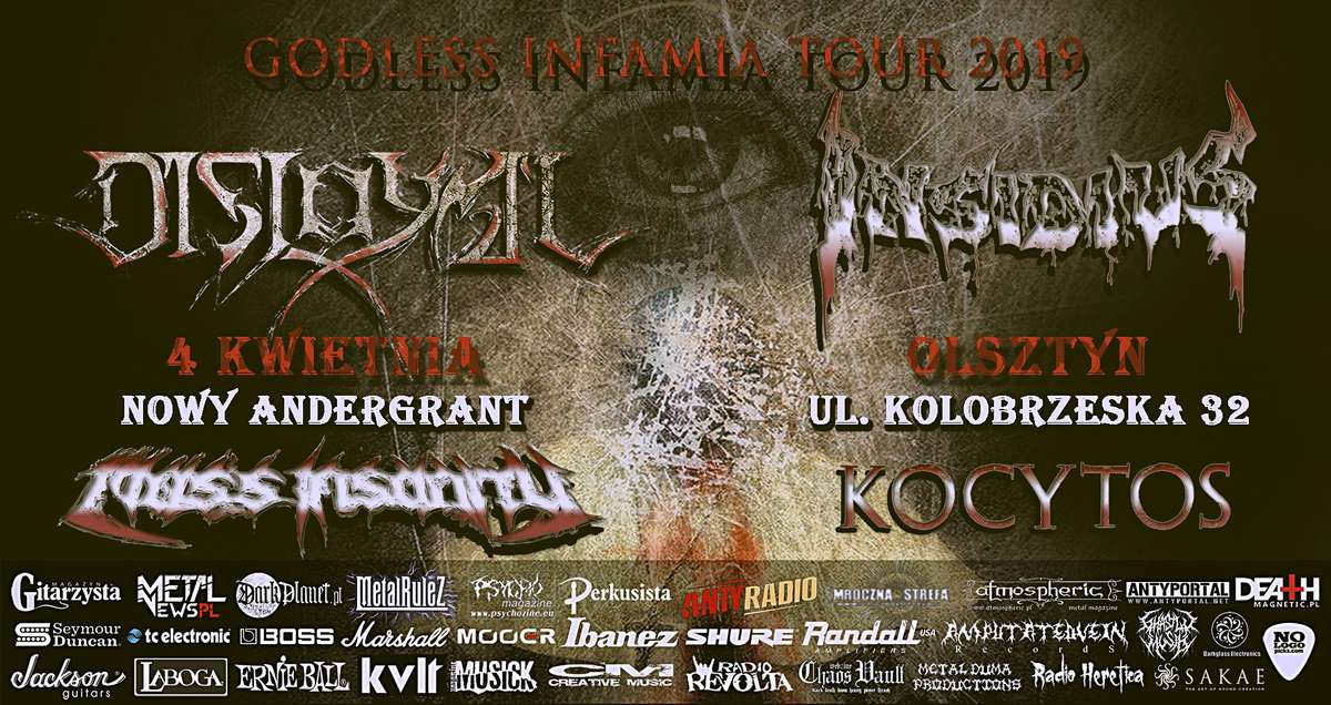 Godless Infamia Tour 2019 - Death Metal - Nowy Andergrant 4.04.2019 - full image