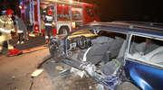 Wypadek pod Olsztynem. Uderzył w dwa auta, dwie osoby ranne