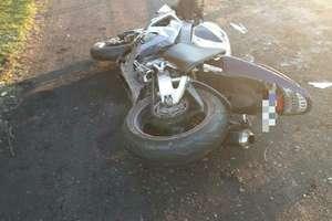 Wypadek motocyklisty na DK 16. Mężczyzna przewieziony został do szpitala