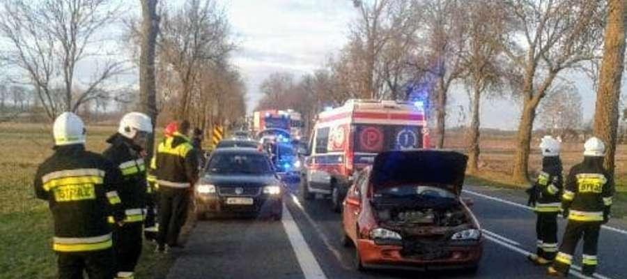 Kierująca Peugeotem została zabrana do szpitala