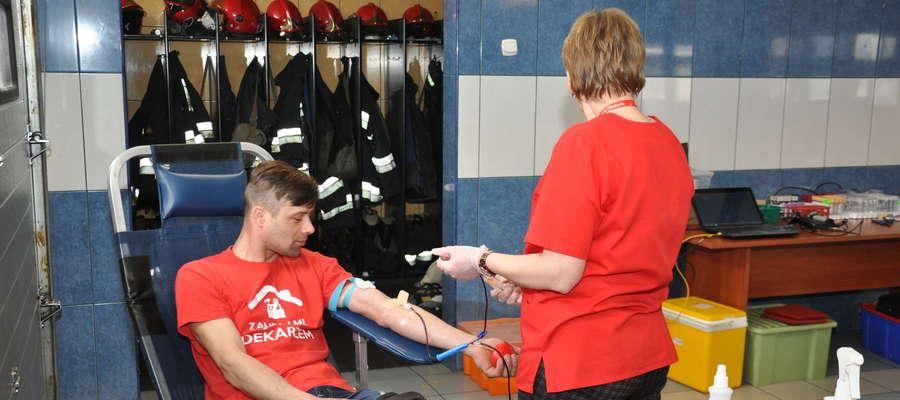 Podczas jednego z poborów krwi w nowomiejskiej straży