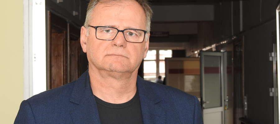 Dyrektor szpitala w Bartoszycach Sławomir Wójcik.
