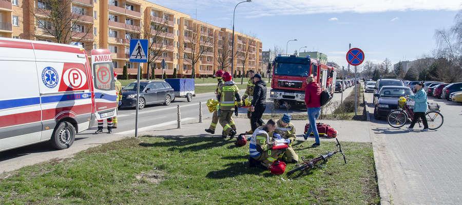 Potrąconemu ośmiolatkowi pierwszej pomocy udzielili iławscy strażacy