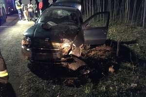 Fiat uderzył w drzewo. Trzy osoby w szpitalu