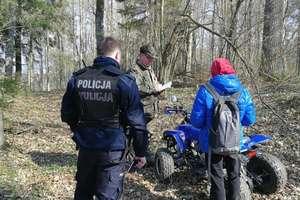 16-latek jeździł quadem po lesie. Teraz odpowie przed sądem