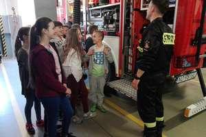 Wizyta uczniów u strażaków