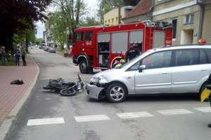 Zderzenie samochodu z motocyklem