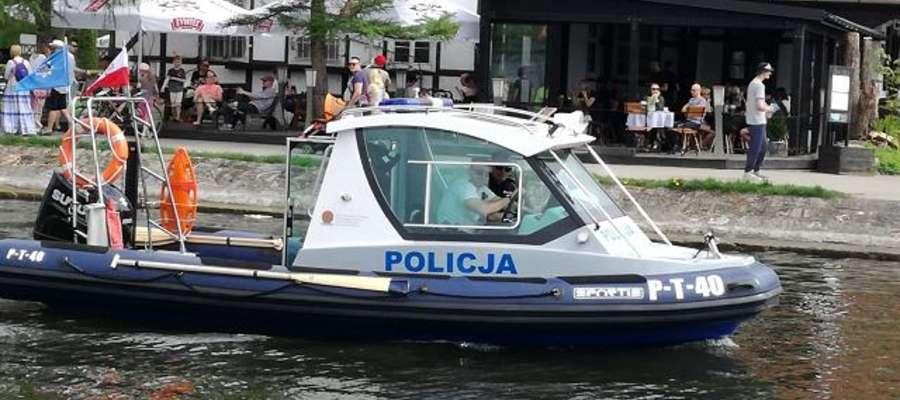 Wodna policja na Kanale Łuczańskim