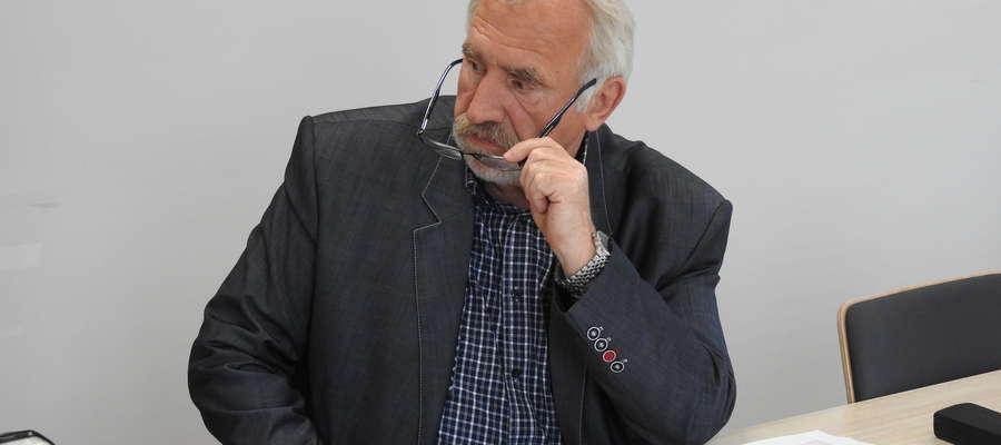 Tadeusz Wojnicz podczas posiedzenia Rady Powiatowej Warmińsko-Mazurskiej Izby Rolniczej w Bartoszycach.