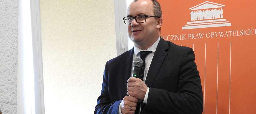 Rzecznik praw obywatelskich Adam Bodnar spotkał się m.in. z mieszkańcami powiatu bartoszyckiego