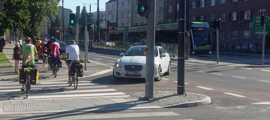 Zdjęcie ilustracyjne, rowerzyści w Olsztynie