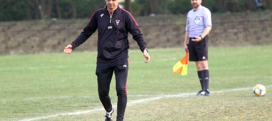 Marcin Wincel, trener piłkarzy Warmii Olsztyn