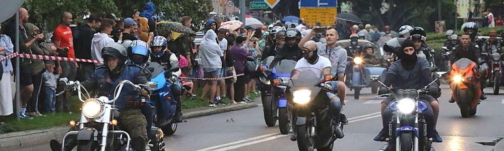 Giżycka parada motocyklistów w 2017 r.
