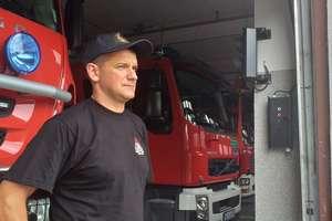 Bohaterskie zachowanie strażaka