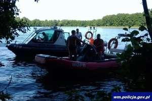 Wypadek na jeziorze Ukiel w Olsztynie. Mężczyzna nie był w stanie się poruszyć