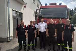 Nowy wóz strażacki w Hartowcu