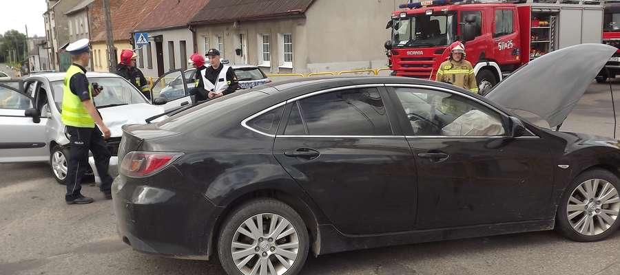 Do wypadku doszło na skrzyżowaniu niedaleko rynku w Kurzętniku