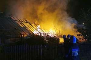 Nocny pożar szklarni w Dywitach [ZDJĘCIA]