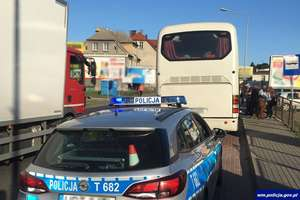 NOWE MIASTO LUB.|| Kierowca autobusu przewoził 77 pasażerów, a miejsc tylko 52! [FILM]