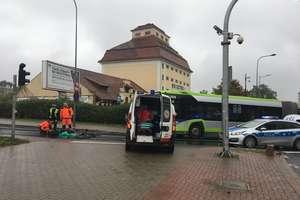 Uwaga! Potrącenie rowerzysty na ul. Limanowskiego w Olsztynie