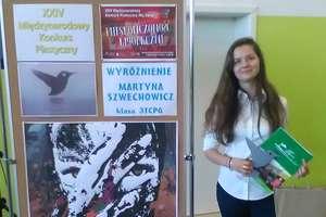 """Wyróżnienie dla Martyny w XXIV Międzynarodowym Konkursie Graficznym """"Mój świat"""""""