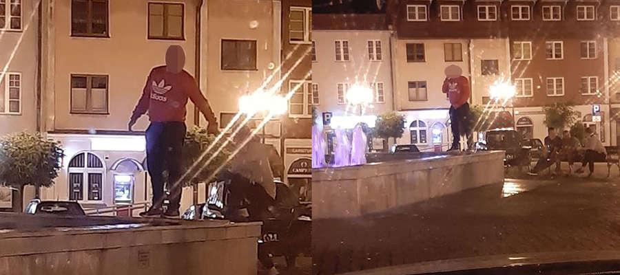 Mężczyzna, który oddał mocz do fontanny, zrobił to w towarzystwie trójki swoich kompanów