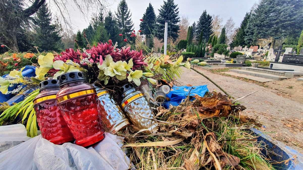 Takie znicze znaleźliśmy w jednym z kontenerów na cmentarzu. Czy mogłyby jeszcze komuś posłużyć?