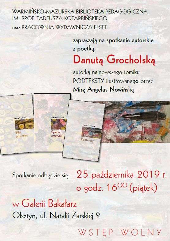 Spotkanie autorskie z Danutą Grocholską - full image