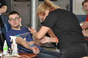 Znów oddawali krew w nowomiejskiej straży