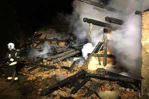 Pożar budynku gospodarczego w Trutnowie (gm. Bartoszyce)