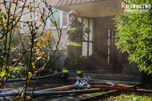 Spawacz-amator wywołał w piwnicy groźnie wyglądający pożar