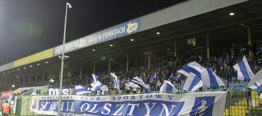 Kibice Stomilu Olsztyn byli połowicznie zadowoleni po meczu z Termalicą Nieciecza (1:1)