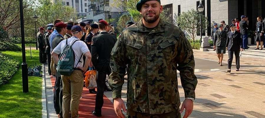 Szeregowy Konrad Bukowiecki na 7. Światowych Igrzyskach Wojskowych w Wuhan