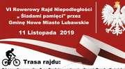 """VI Rowerowy Rajd Niepodległości """" Śladami pamięci"""" przez Gminę Nowe Miasto Lubawskie [ ZAPROSZENIE ]"""